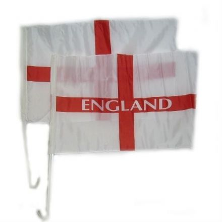 Two England Car Flags